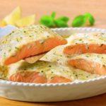 Рыба в соусе с мелиссой