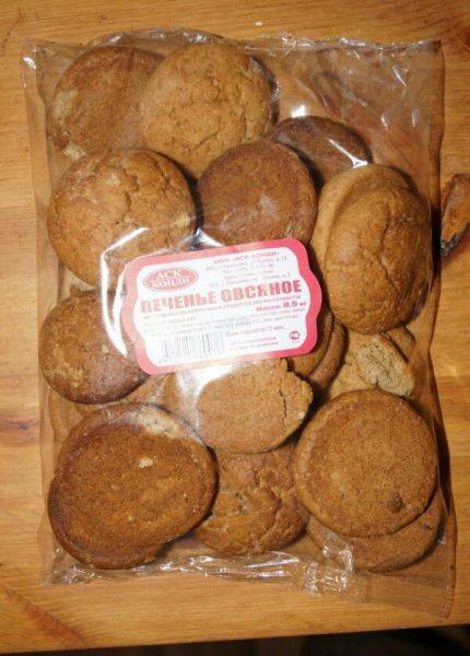Упаковка овсяного печенья