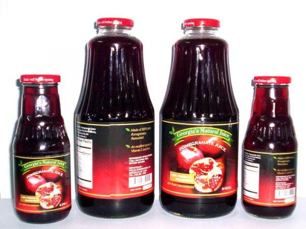Гранатовый сок в бутылках