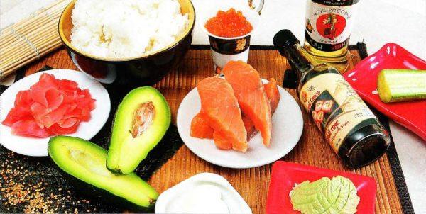 Ингредиенты суши и роллов