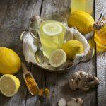 Напиток с лимоном и имбирём