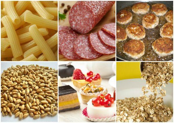Запрещённые продукты при безглютеновой диете