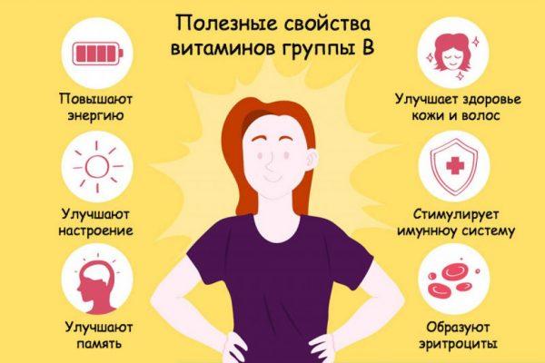 Свойства витаминов группы В для женского организма