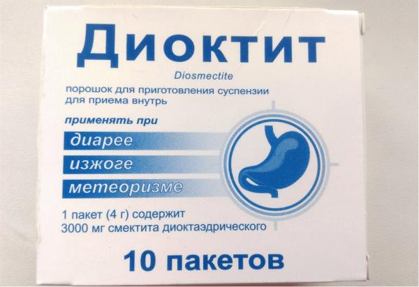 Упаковка препарата Диоктит