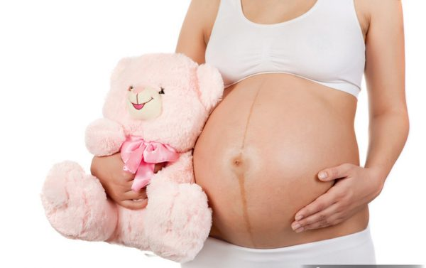 Гиперпигментация средней линии живота у беременной