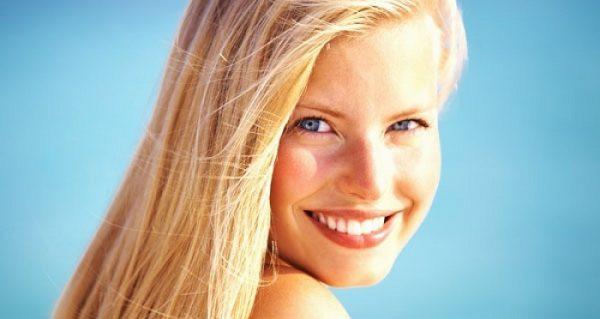 Женщина с первым фототипом кожи